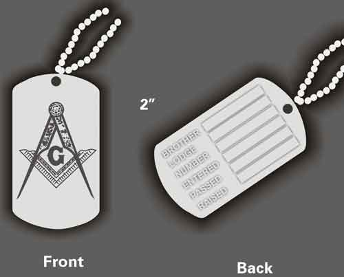 dog tags. Dog Tag - Masonic Ident